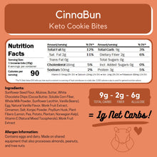 Load image into Gallery viewer, ChipMonk Keto Cookie Bites bite CM Baking