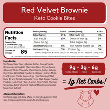 Load image into Gallery viewer, Red Velvet Keto Cookie Bites ChipMonk Baking