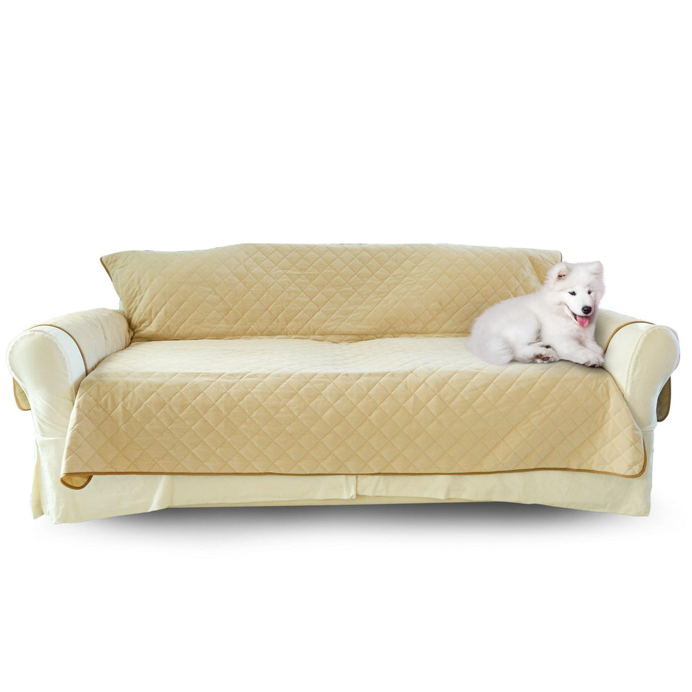 Luxury Sofa Cover for Dogs Cats 3 or 4 Seat Furniture Cover - Sand - Luxe Pets Products