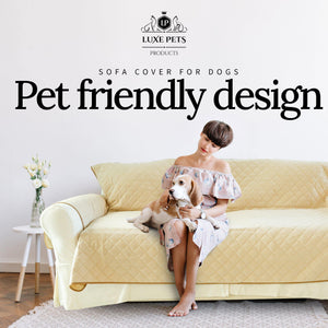Load image into Gallery viewer, Luxury Sofa Cover for Dogs Cats 3 or 4 Seat Furniture Cover - Sand - Luxe Pets Products