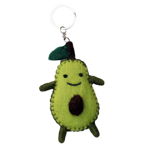 Felt Avacado Key Chain. Fair trade