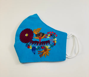 Floral Embroidered Face Masks