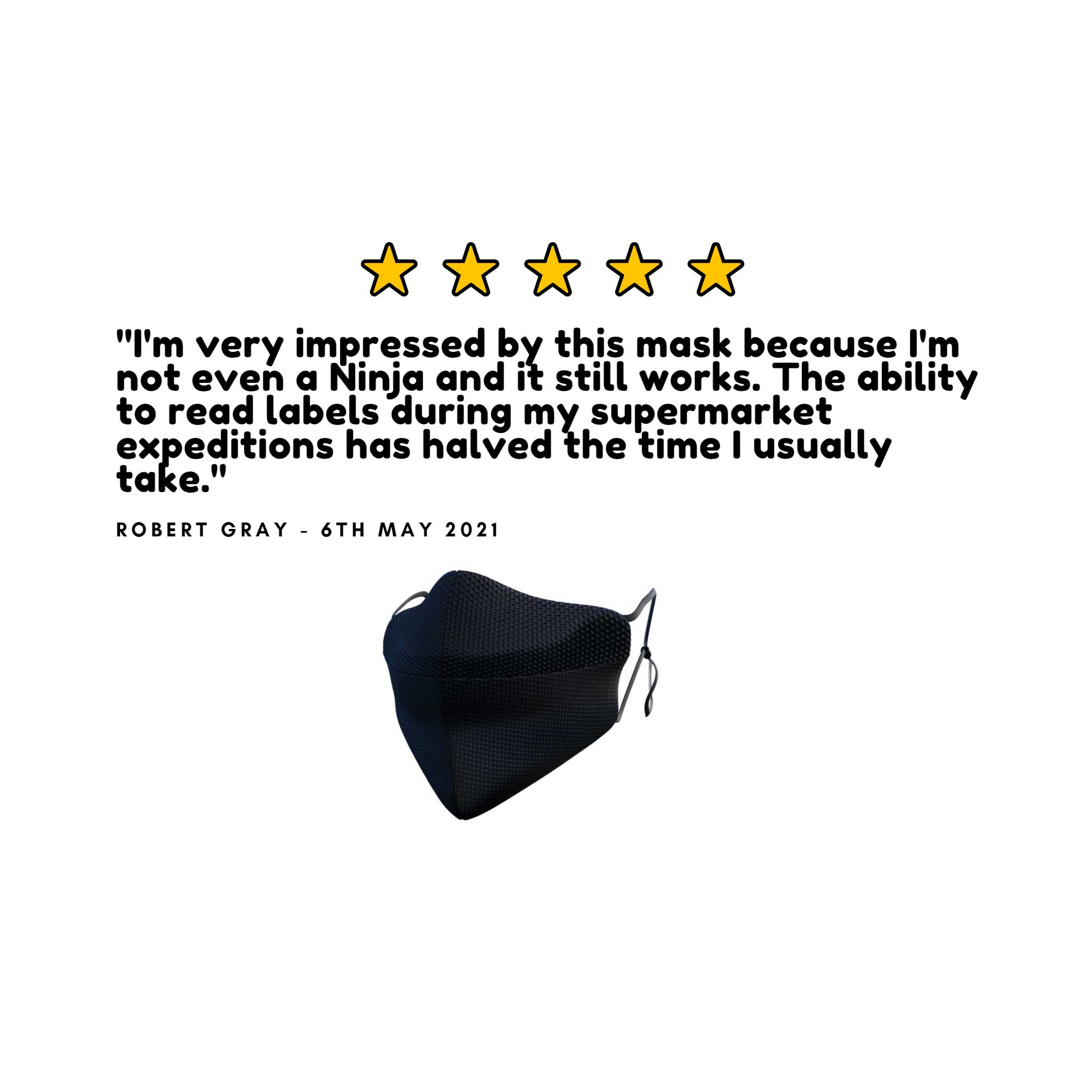 MisfitMask - the facemask that wont steam up your glasses., Protective Masks - Image 2