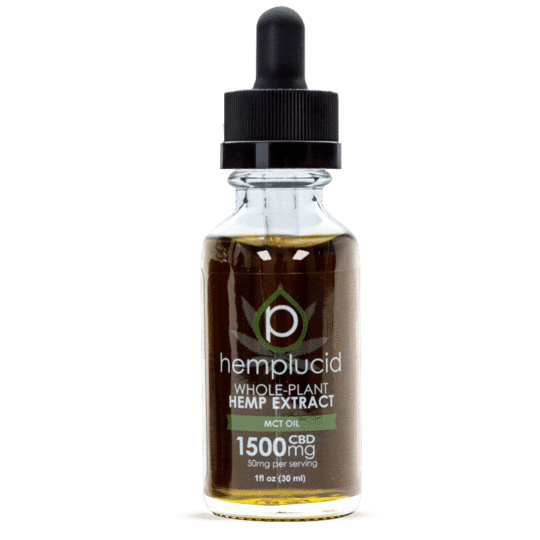 Hemplucid Full-Spectrum CBD in MCT Oil Tincture 1500mg