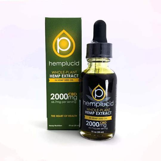 Hemplucid Full-Spectrum CBD in Hemp Seed Oil Tincture 2000mg