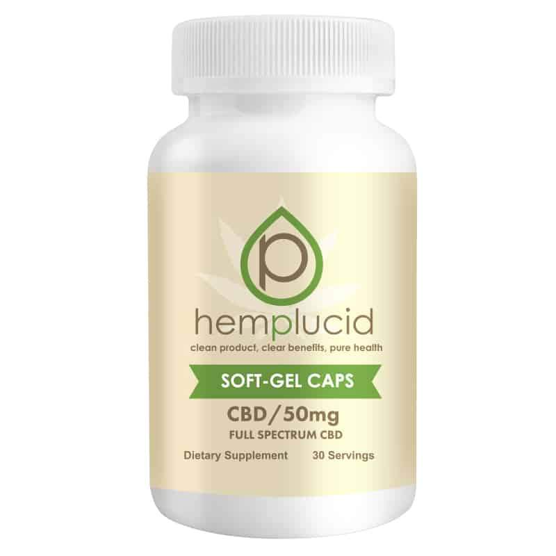 Hemplucid Full-Spectrum CBD Soft-Gel Capsules 50mg