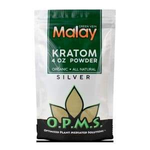O.P.M.S. Silver Malay 4oz Kratom Powder