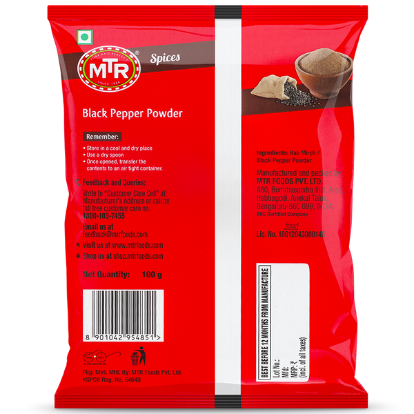 MTR Kali Mirch Black Pepper Powder 100 g