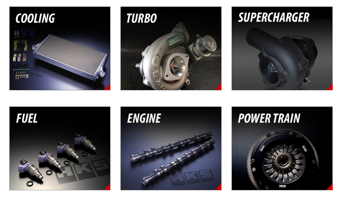 HKS Products ~ Cooling, Turbo, Supercharger, Fuel, Engine, Power Train