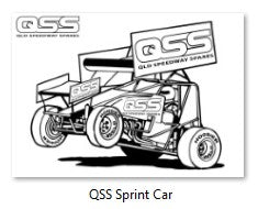 Queensland Speedway Spare Sprint Car Colour In Picture