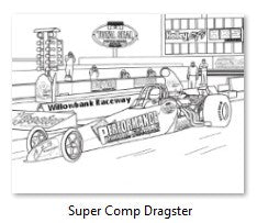 Performance Wholesale Super Comp Dragster Colour In Picture