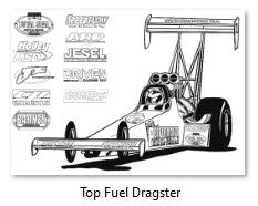 Top Fuel Dragster Colour In