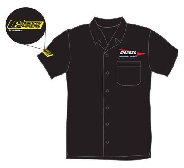 Moroso button down shirt with Embroidered Logos