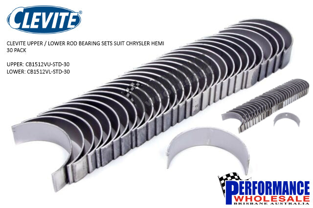 Clevite Con Rod Bearings Suit Chrysler Hemi ~ 30 Pack Upper