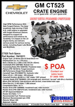 Load image into Gallery viewer, GM CT525 Crate Engine 533 HP @6600 RPM ~ 477 LB-FT@5200 RPM