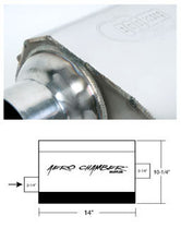 "Load image into Gallery viewer, Hooker Aero Chamber Muffler ~ Single 2-1/4"" Offset Inlet, Single 2-1/4"" Centre Outlet"