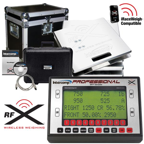 Intercomp Racing SW777RFX™ Wireless Professional Scale System, 2800kg System Weight