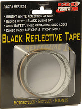 "Load image into Gallery viewer, ISC Racers Tape ~ Black Reflective Tape 1"" x 24"" ~ New Product"