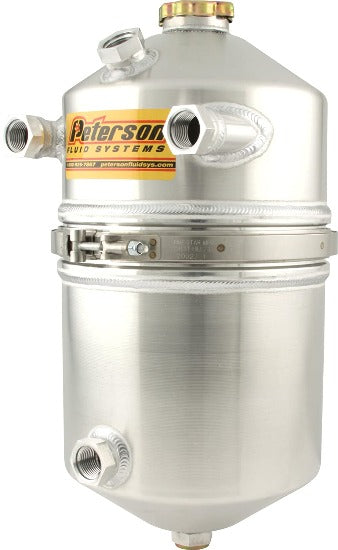 Peterson 4 Gallon Dry Sump Oil Tank With Dual Scavenge Inlet