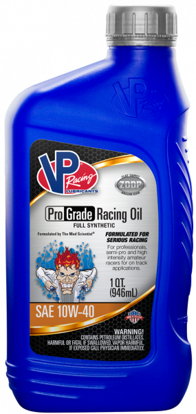 VP Professional Grade 10W-40 Full Synthetic Racing Oils