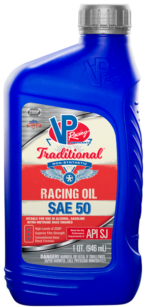 VP Traditional SAE 50 Non-Synthetic Racing Oil