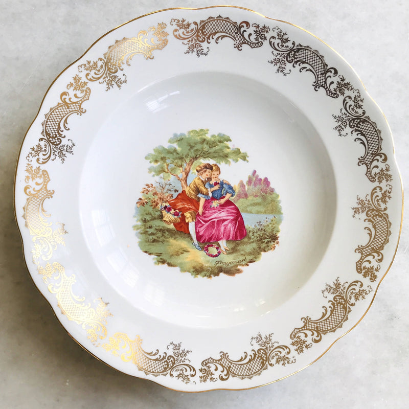 Fragonard Inspired Serving Bowl