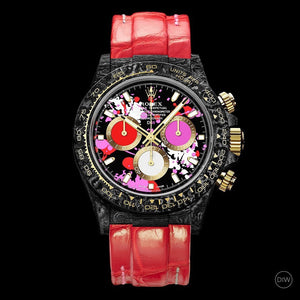 "Rolex DiW NTPT Carbon Daytona ""MOTLEY RED"" (Retail:US$57,300)"