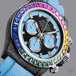 "Rolex DiW NTPT Carbon Daytona ""RAINBOW BLUE"" (Retail:US$81,000)"