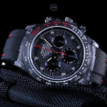 "Load image into Gallery viewer, Rolex DiW NTPT Carbon Daytona ""SPEEDSTER DIAMOND INDEX"" (Retail:US$54,500)"