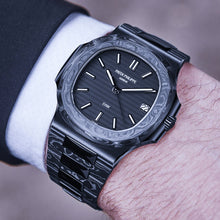 "Load image into Gallery viewer, Patek Philippe DiW NTPT Carbon Nautilus 5711 ""BLACK GRAIL"" (Retail:EUR 179990)"