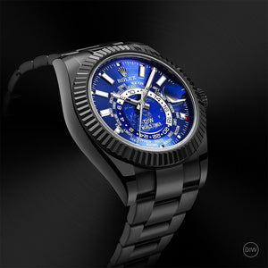 "Rolex DiW Black DLC ""BLUE & BLACK"" Sky-Dweller 42mm 326934 (Retail:EUR 33990)"