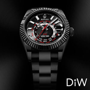 "Rolex DiW 42mm Black DLC ""BLACK RED"" Sky-Dweller 326934 (Retail:EUR 33990)"