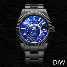 "Load image into Gallery viewer, Rolex DiW Black DLC ""BLUE & BLACK"" Sky-Dweller 42mm 326934 (Retail:EUR 33990)"