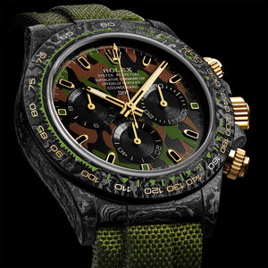 "Rolex DiW NTPT Carbon Daytona ""MILITARY GREEN UNIQUE 1"" (Retail:US$62,990)"