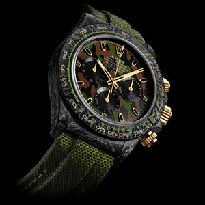 "Rolex DiW NTPT Carbon Daytona ""MILITARY GREEN UNIQUE 2"" (Retail: US$62,990)"
