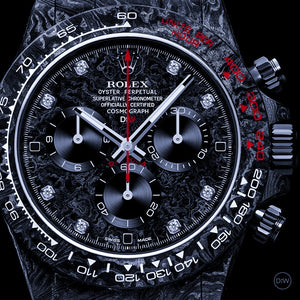 "Rolex DiW NTPT Carbon Daytona ""SPEEDSTER DIAMOND INDEX"" (Retail:US$54,500)"