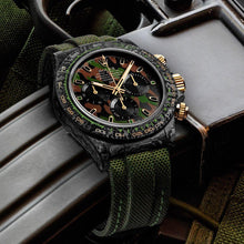 "Load image into Gallery viewer, Rolex DiW NTPT Carbon Daytona ""MILITARY GREEN UNIQUE 2"" (Retail: US$62,990)"