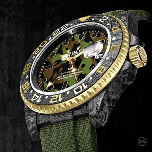 "Rolex DiW NTPT Carbon GMT-Master II ""MILITARY GMT"" (Retail: US$44,500)"
