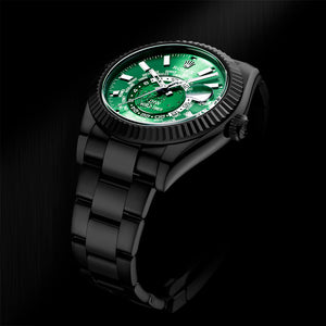 Rolex DiW Black DLC Green Sky-Dweller 42mm 326934 (Retail:US$37,990)