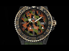"Load and play video in Gallery viewer, Rolex DiW NTPT Carbon GMT-Master II ""MILITARY GMT"" (Retail: US$44,500)"
