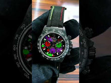 "Load and play video in Gallery viewer, Rolex DiW NTPT Carbon Daytona ""MOTLEY PURPLE UNIQUE 1"" (Retail:US$56,800)"