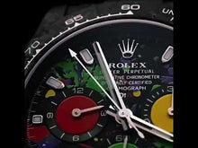 "Load and play video in Gallery viewer, Rolex DiW Ultimate Unique Top Model ""MOTLEY"" NTPT Carbon Daytona (Retail:US$64,500)"