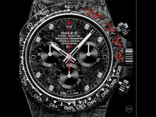 "Load and play video in Gallery viewer, Rolex DiW NTPT Carbon Daytona ""SPEEDSTER DIAMOND INDEX"" (Retail:US$54,500)"