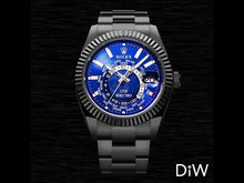 "Load and play video in Gallery viewer, Rolex DiW Black DLC ""BLUE & BLACK"" Sky-Dweller 42mm 326934 (Retail:US$39,990)"