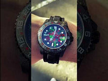 "Load and play video in Gallery viewer, Rolex DiW NTPT Carbon GMT-Master II ""MOTLEY GMT"" (Retail: US$43,000)"