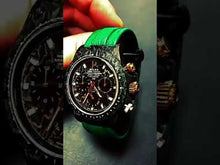 "Load and play video in Gallery viewer, Rolex DiW NTPT Carbon Daytona ""EMERALD"" (Retail:EUR 47490)"
