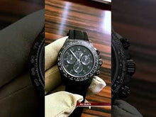 "Load and play video in Gallery viewer, Rolex DiW NTPT Carbon Daytona ""ALL BLACK"" (Retail:EUR 41490)"