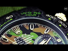 "Load and play video in Gallery viewer, Rolex DiW NTPT Carbon Daytona ""MILITARY GREEN UNIQUE 1"" (Retail:US$62,990)"
