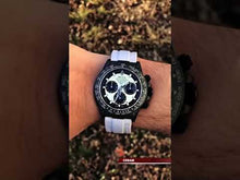 "Load and play video in Gallery viewer, Rolex DiW NTPT Carbon Daytona Panda ""CREAM"" (Retail:US$49,500)"