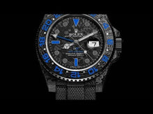 "Load and play video in Gallery viewer, Rolex DiW NTPT Carbon GMT-Master II ""ELECTRO"" (Retail: US$38,990)"